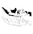 indonesia map vector image