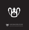 isolated bag icon rucksack element can be vector image vector image