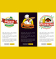 italian pizza web pages set vector image vector image