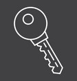 key line icon security and password vector image vector image