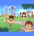 kids playground play children nature outdoor vector image