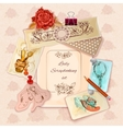 Ladies Scrapbooking Set vector image vector image