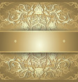 Luxury gold background with ornament