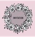 luxury rosy and black peony flowers wreath vector image vector image