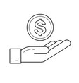 money insurance line icon vector image
