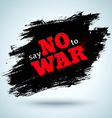 no war abstract vector image vector image