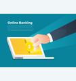 online banking vector image vector image