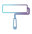 paint roller icon gradient color silhouette from vector image vector image