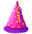 Party hat with decoration vector image vector image