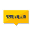premium quality price tag vector image vector image