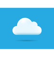 Professional Cloud Icon Isolated on Blue vector image vector image