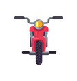 red scooter front view motorized modern motorbike vector image