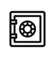 safebox icon vector image