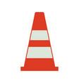 safety cone icon vector image vector image