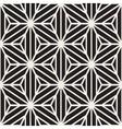 Seamless Black And White Star Lines Grid vector image vector image