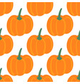 seamless pattern with hand drawn pumpkins farm vector image vector image