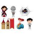 set isolated objects theme fairytales vector image vector image