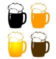 set of beer mugs vector image
