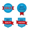 Set of cute badge vector image vector image