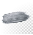 silver glitter paint brush stroke or abstract dab vector image vector image