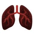 smoker lungs icon cartoon style vector image