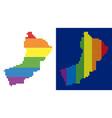 spectrum pixel dotted oman map vector image