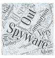 spyware comparison Word Cloud Concept vector image vector image