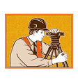 Surveyor Geodetic Civil Engineer Retro vector image vector image
