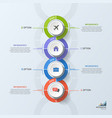 timeline business vertical infographic template 4 vector image vector image