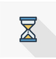 timer sand hourglass glass clock thin line flat vector image