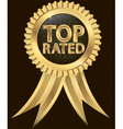 top rated awards vector image vector image