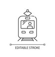 tram pixel perfect linear icon vector image vector image