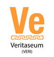 veritaseum cryptocurrency symbol vector image vector image