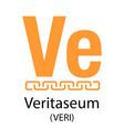 veritaseum cryptocurrency symbol vector image vector image