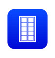 wooden latticed window icon digital blue vector image vector image