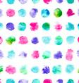 Seamless pattern of watercolor circles vector image