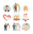 wedding bride and groom wedding vector image