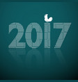 2017 with cock vector image