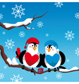 abstract christmas card with birds vector image vector image