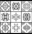 abstract damask patterns set nine seamless in vector image vector image