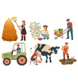 agricultural workers farmers do agricultural work vector image