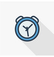 alarm clock thin line flat color icon linear vector image vector image
