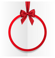 bright holiday round frame banner hanging vector image vector image
