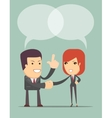Business Man And Woman Shaking Hands vector image vector image