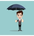 businessman with umbrella for protection vector image