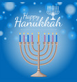 card template for happy haukkah festival with vector image vector image
