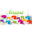 carnival party banner with colorful flags vector image vector image