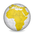 cartographic puzzle of africa vector image
