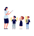 children musicians kids orchestra music lesson vector image vector image