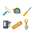 Construction Work Equipment Collection vector image vector image